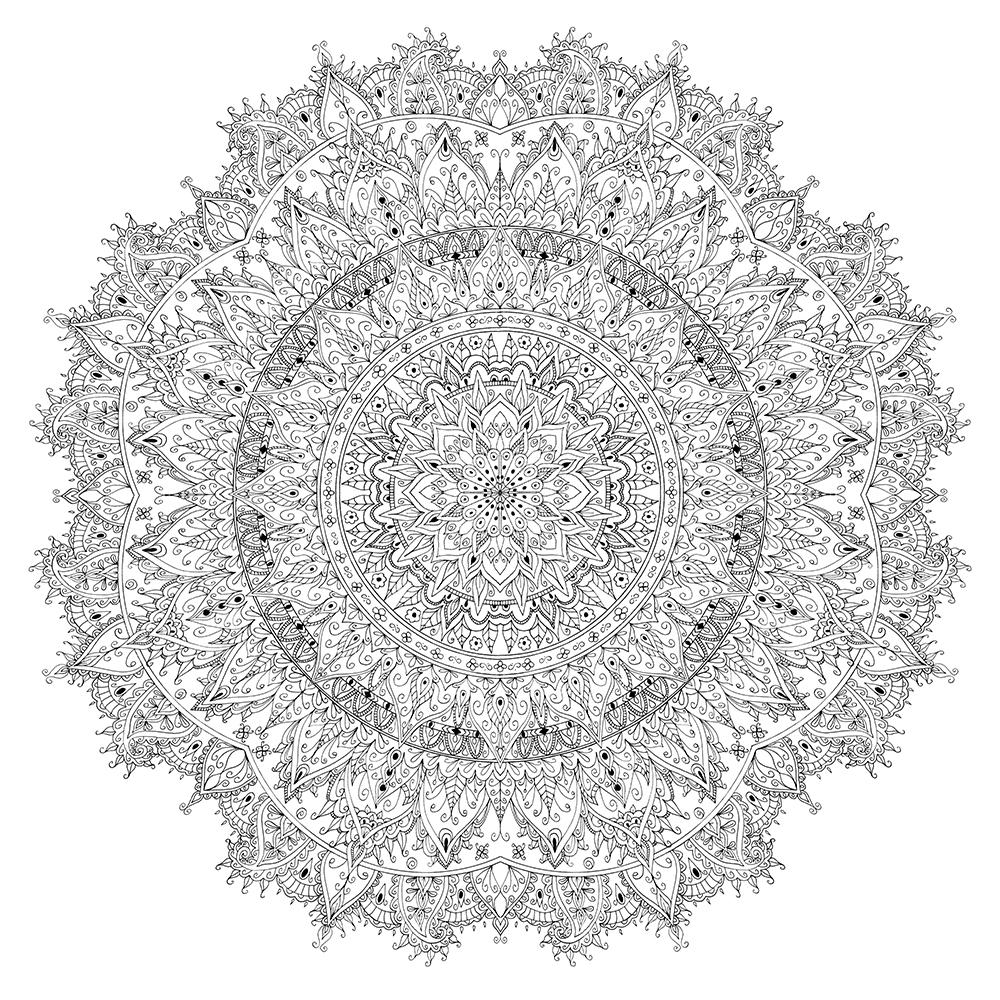 Large Floral Mandala
