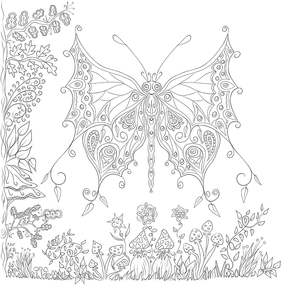 butterfly garden kit coloring pages - photo#8
