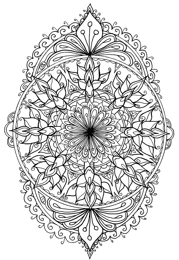 Free Mandala Coloring Pages #4