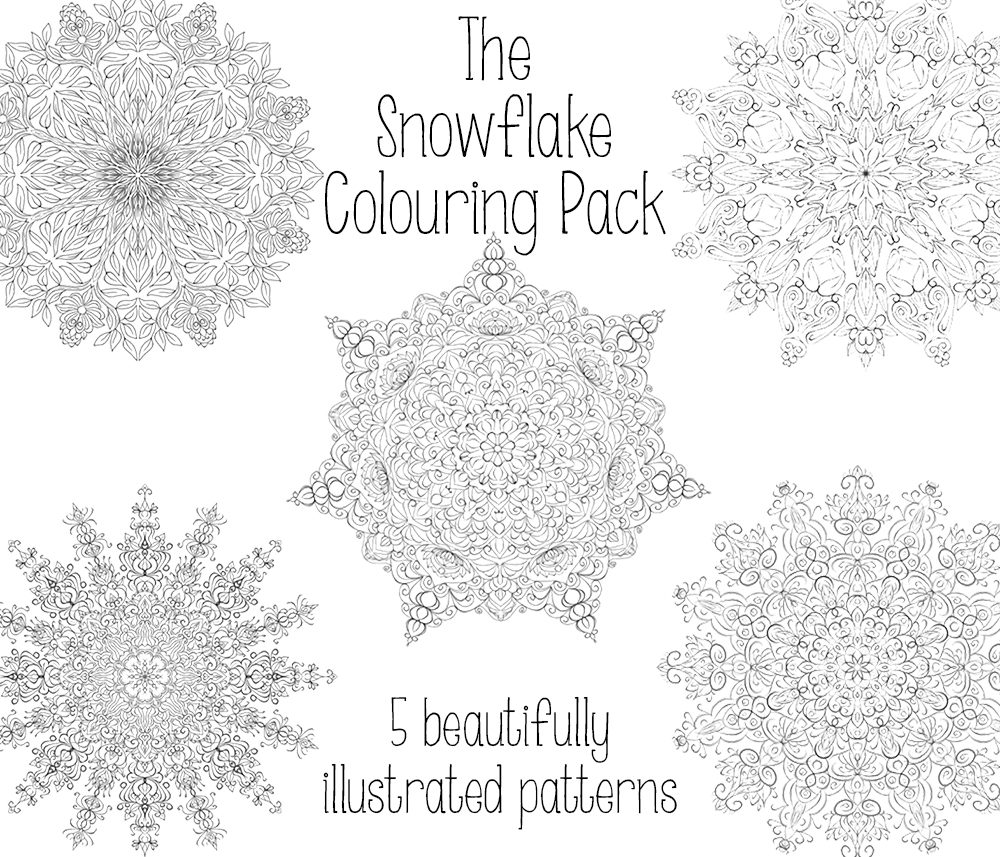 trying something new u2013 the snowflake colouring pack
