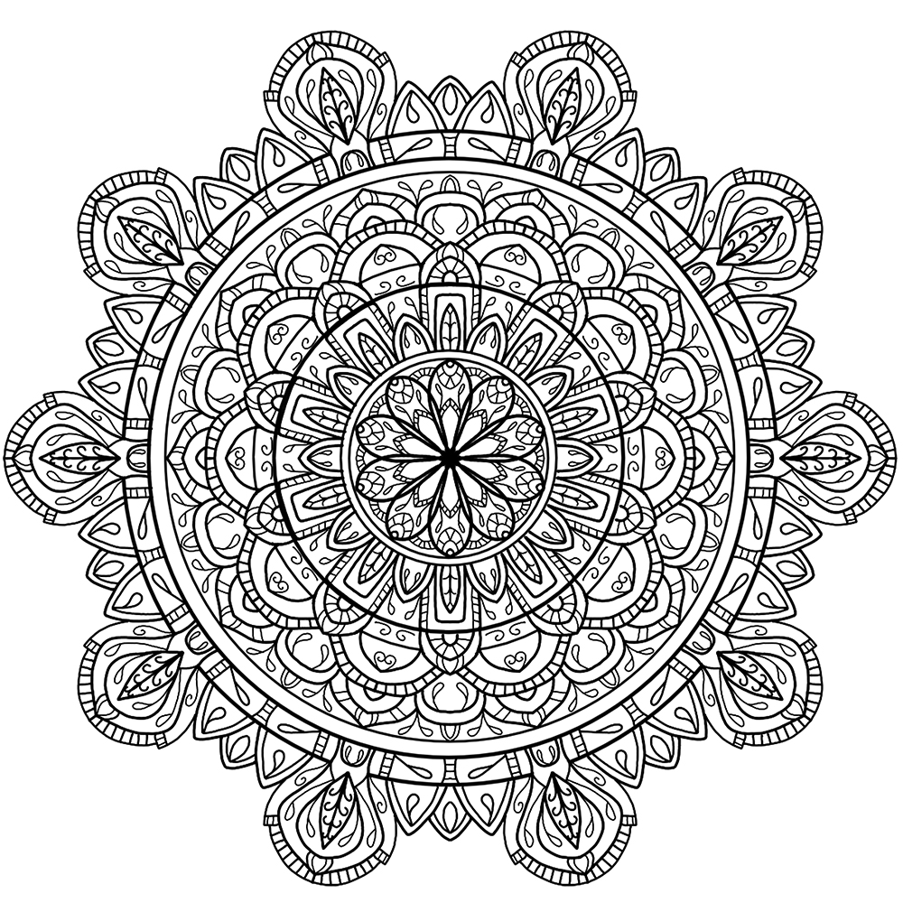 mandala coloring pages on pinterest, See more about mandala coloring ...