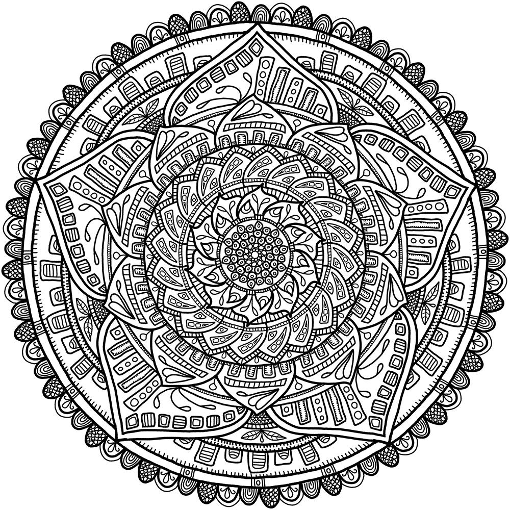 Circles Mandala 6 Mandala Circles Coloring Pages