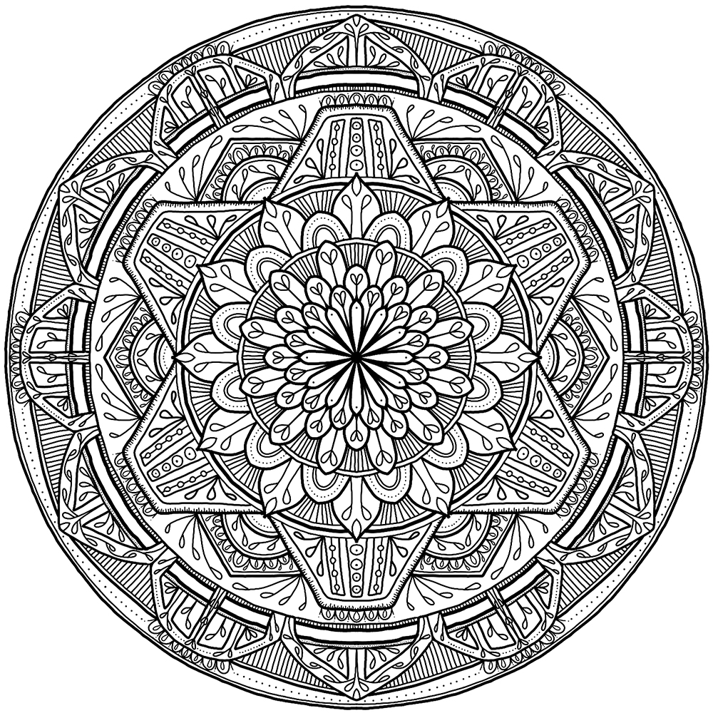 Friday wooh for Circle pattern coloring pages