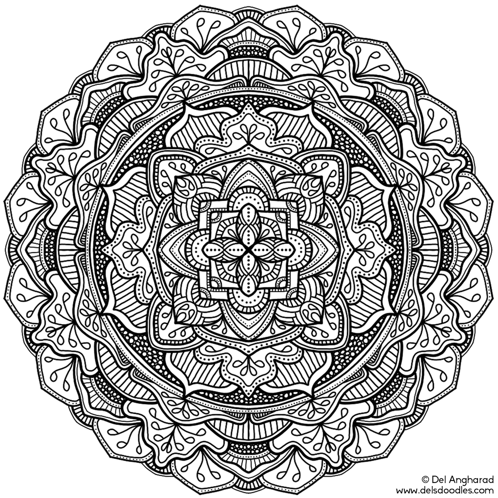Coloring Book For Me And Mandala Mod Color In An Example
