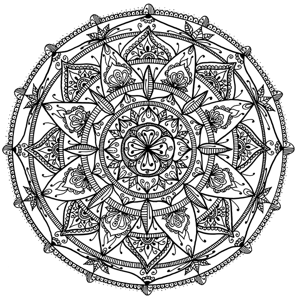 full page mandala coloring pages - photo #32