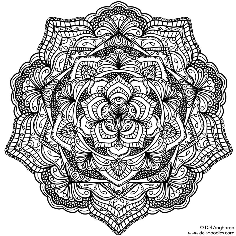 Small mandalas page 2 for Mandala coloring pages