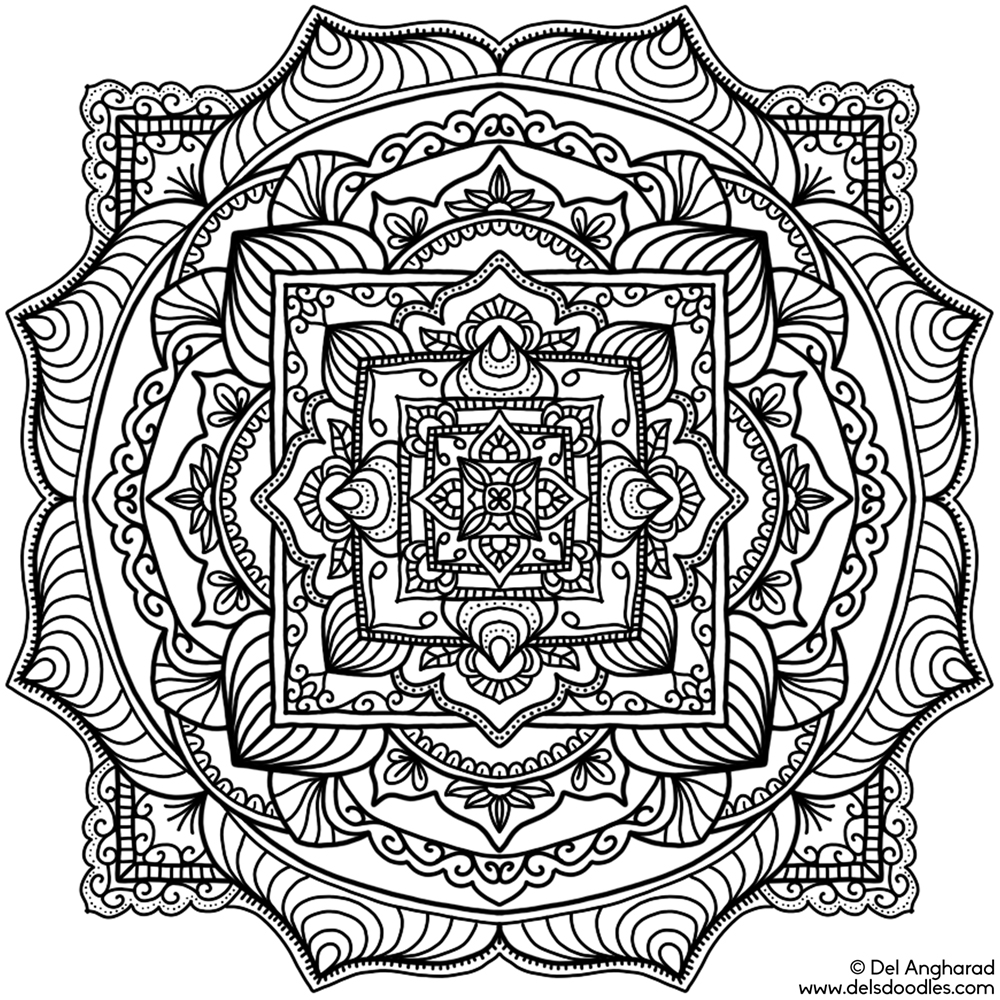 Small mandalas page 2 for Adult coloring pages mandala