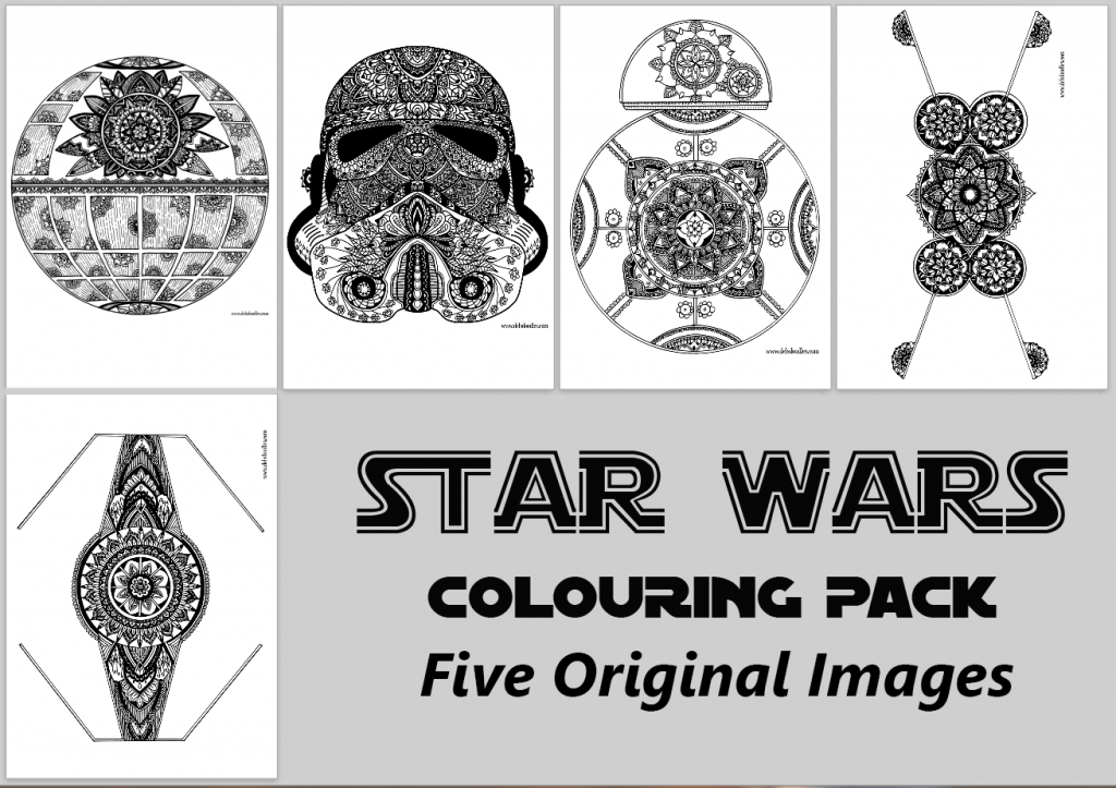 star wars themed colouring pack. Black Bedroom Furniture Sets. Home Design Ideas