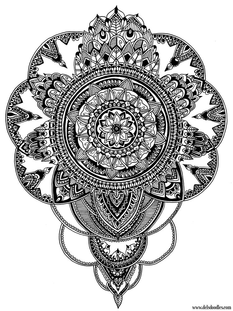 Circles flower drawing